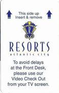 Resorts Casino - Atlantic City, NJ - Hotel Room Key Card - Hotel Keycards
