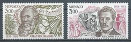 Monaco YT N°1389/1390 Johannes Brahms Et Giacomo Puccini Neuf ** - Monaco