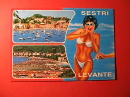 CARTOLINA  SESTRI LEVANTE VEDUTINE   - D 146 - Pin-Ups