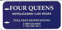 Four Queens Casino - Las Vegas, NV - Narrow Hotel Room Key Card - Hotel Keycards