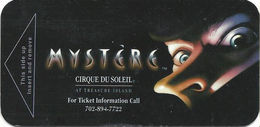Treasure Island Casino - Las Vegas, NV - Narrow Hotel Room Key Card - Hotel Keycards