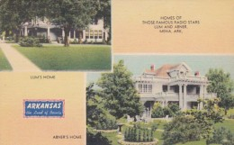 Arkansas Mena Homes Of Lum and Abner Famous Radio Stars