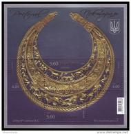 UKRAINE 2013. PECTORAL, SCYTHIAN GOLD JEWELLER ORNAMENT. Mi-Nr. 1376-79 Block 116. Mint (**) - Ukraine