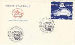 ITALIA 2017 - Fiat Nuova 500 - Annullo Garlenda - FDC Cavallino - 6. 1946-.. Repubblica