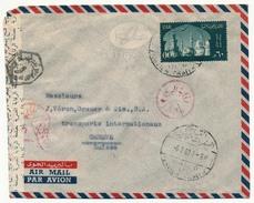 EGYPTE - 3 Enveloppes Affr UAR - Pour Genève - Censures Diverses - Egypt