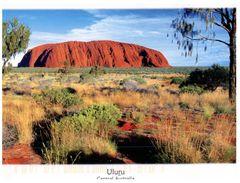 (581) Australia - (with Australian Stamp At Back Of Postcard) - NT - Uluru (Ayers Rock) - Uluru & The Olgas