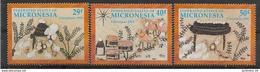 1991 MICRONESIE 173-75** Noël - Micronésie