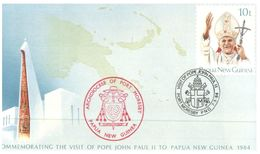 (320) Papua New  Guina FDC  - Pope John Paul II Visit - Papouasie-Nouvelle-Guinée