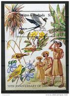(CL 44 Bis) Antigua ** Bloc N° 99 - 75e Ann. Du Mouvement Scout Féminin. Oiseaux : Hirondelle - Antigua And Barbuda (1981-...)