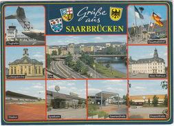Saarbrücken: STADION, Spielbank, Flughafen, Hauptbahnhof, Eissporthalle, City, Rathaus,Ludwigskirche, Saarlandhalle - Stadions