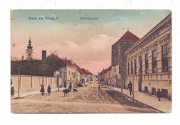 A 2400 BRUCK A.d. Leitha, Wienergasse, Color, 1915, Belebte Szene - Bruck An Der Leitha