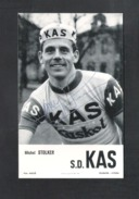 WIELRENNER - CYCLISTE - COUREUR  MICHEL STOLKER  - S.D. KAS -  FOTOKAART + HANDTEKENING (8572) - Cyclisme