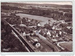 MARMAGNE..cher 18  .BELLE VUE AERIENNE DE LA GARE ECRITE ET VOYAGEE CACHET 19/08/1958 - Francia