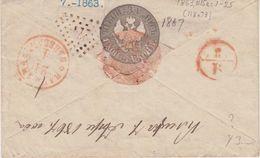 Russia Postal History . Rare Dotted Cancel #224 Kletskaya Minsk Area - 1857-1916 Imperium