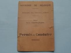 PERMIS De CONDUIRE Belgique ( BOURGEOIS 1897 ) N° 66690 Liège 1942 + Xtra Docu ( Details Zie Foto ) ! - Old Paper