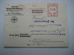 Firmen Freistempel , Meterstempel Auf Beleg Aus   WIESBADEN    1936 - Deutschland
