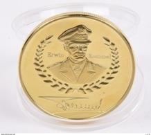 Medalla Mariscal Erwin Rommel. Afrika Korps. El Zorro Del Desierto. Whermacht. Alemania. II Guerra Mundial Conmemorativa - Alemania