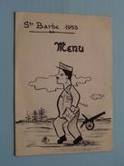 Ste BARBE 1953 ( Gehandtekend Achteraan / Details Zie Foto ) ! - Menus