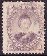 NEWFOUNDLAND 1868 1 Cent Dull Purple Die I SG34 FU - 1851-1902 Reign Of Victoria