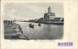Emilia Romagna-ravenna Porto Corsini Col Semaforo Veduta Primi 900 - Ravenna