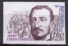 France 1982 N° 2229 André Chantemesse  Non Dentelé - Ongetand