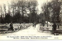 STORS  - Entre Mériel Et L'Isle Adam -  Guerre 1914 - Le   Pont De Bateaux  -  Carte Animée. - L'Isle Adam