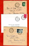 71 Saône Et Loire  3 Plis Dont 2 Avec Cachets Manuels Différents CHALON SUR SAÔNE ENTREPÔT Chemin De Fer Gare 1966 - Postmark Collection (Covers)