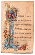 Image Religieuse Souvenir Communion Saint Gaultier 1890 - Images Religieuses