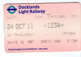 Docklands Light Railway Londres London 24/10/2011 - Métro