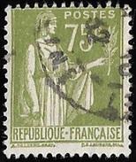 Timbre De France  1932 & 33   '  Yvert N° 284A  '   Type Paix, 75 C. Olive - 1932-39 Paix