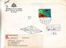 Saint Marin - Lettre Recom De 1972 ° - Oblit Républica Di San Marino - Exp Vers Bruxelles Forest - Lettres & Documents