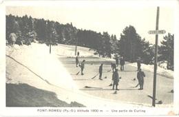 FR66 FONT ROMEU - Chauvin - Verte - Une Partie De Curling - Animée - Autres Communes