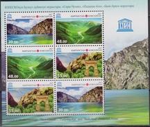 KIRGIKISTAN Unesco Patrimonio Mondiale Sheet MNH - UNESCO