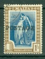 Malta: 1926   Emblem  'Postage' OVPT     SG152   1/-     Used - Malta (...-1964)