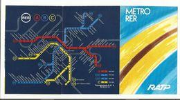 RATP CARTE RER ET METRO AVEC PUB POUR...LA MARTINIQUE - Cartes