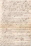 VP11.035  - Lettre / Acte De 1849 - Partage D'une Maison Située à PONT A MOUSSON Par Mrs PARISOT & BONNE Architectes - Manuscrits