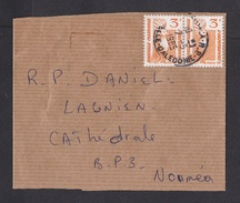 New Caledonia: Locally Used Wrapper, 1985, 2 Stamps, Bird (minor Damage, See Scan) - Nieuw-Caledonië