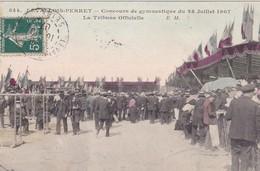 LEVALLOIS PERRET  EN HAUTS DE SEINE  CONCOURS DE GYMNASTIQUE DU 28/07/1907  LA TRIBUNE  CPA  CIRCULE TRES RARE - Levallois Perret
