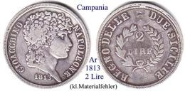 I-1813, 2 Lire, Campania (2) - Non Classificati