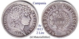 I-1813, 2 Lire, Campania (2) - Monete Regionali