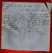 Courrier Espagne Ricardo Andrés Lobejon Villarramiel 1899 - écrit En Espagnol - Espagne