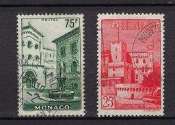"""Monaco YT 397 & 398 """" Vues De La Principauté """" 1954 Oblitéré - Used Stamps"""