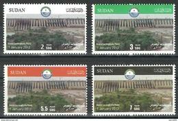 Sudan 2013 Opening Of Rousaires Hydrodam Electricity MNH Set - Soedan (1954-...)