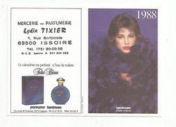 CALENDRIER DE POCHE 1988 MERCERIE PARFUMERIE LYDIA TEXIER ISSOIRE PUY DE DOME - Calendarios