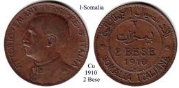 I-1910, 2 Bese, Somalia - Monete Regionali