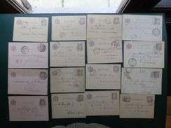 BAKIV/LOT 57  24 BRIEFKAARTEN 3 TYPES  2,5 CENT - Postal Stationery