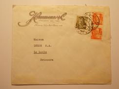 Marcophilie  Cachet Lettre Obliteration - Timbre - ITALIE Destination SUISSE - (1223) - 6. 1946-.. Republic