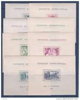 Série Complète Des 24 Blocs Feuillets ** Neufs Sans Charnière - Superbe - 1937 Exposition Internationale De Paris