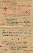 1944- Message Croix Rouge  De Casablanca ( Maroc ) Pour Les Basses Pyrénées - Marcofilie (Brieven)