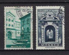 """Monaco YT 369 à 370 """" Vues De La Principauté """" 1951 Oblitéré - Used Stamps"""